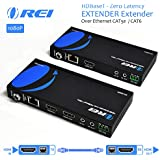 OREI HDMI Extender Over Ethernet CAT5e/CAT6 Power Over Cable - HDBaseT - Zero Latency - 1080P Upto 500 Feet -IR Signal