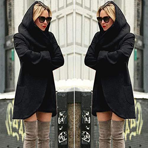 Femme Chaud Veste Manteau En Taille Noir Blouson Capuche Outwear L Hiver Manteaux Angelof Laine Hooded Long Décontractées Minces Grande À 7w1fq4gpx