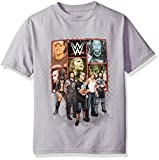 WWE Little Boys' Superstars Short-Sleeve T-Shirt, Silver Little Boys, M-5/6