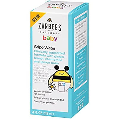 Zarbee's Naturals Gripe Water, Clinically Supported Formula with Ginger, Fennel, Chamomile, Lemon Balm, 4 Fl. Ounces from Zarbees Naturals