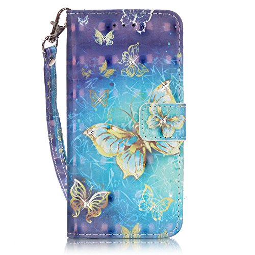 Sunroyal ® 3 IN 1 - Flip Piel Carcasa iPhone 5 5S Colorido tribales pattern patrón oscuro azul verde pintura del color de la PU Funda de cuero cubierta de la caja de la carpeta elegante práctica y chi Z-07