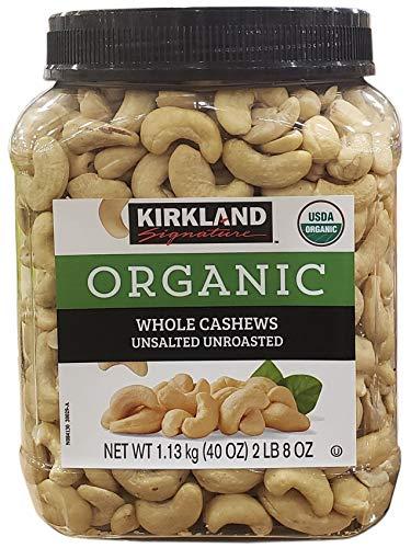 (Kirkland Signature Organic Unsalted Cashew, 40 oz)