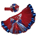 Southern Wrag Company USA 4th of July Red Tutu Set Infant thru 6x (6X)