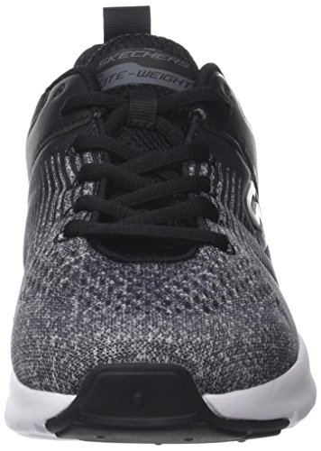 Skechers Nichlas, Baskets Homme Noir (Black/Grey)