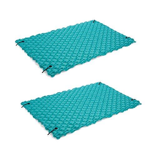 Intex 9.5' Inflatable Floating Water Swimming Pool Lake Mat Platform Pad, 2 Pack ()