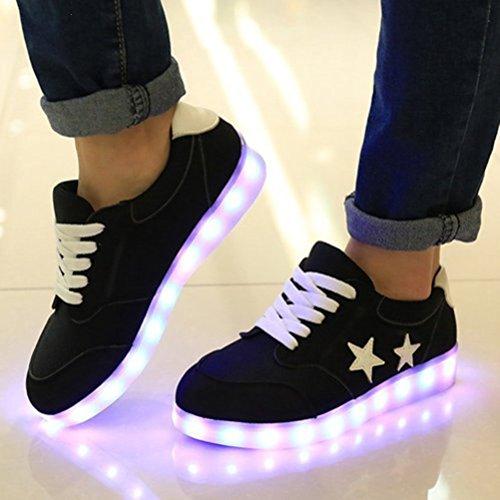 USB Handtuch kleines Farbe Schwarz Present LED Schuhe Lade Blink Unisex 7 c32 JUNGLEST® Turnschuh Beleuchtung vnHwwqUSxW
