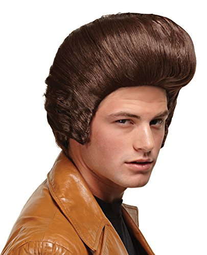 Men's Bouffant Style Dollar Pimp Daddy Wig Halloween Costume Accessory