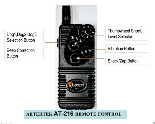 New Version(2014) At-216 Remote 2-Dog Training Collar Systems:600 Yard Remote Control Range,Strong Humane Vibration,Beep Tone and 7 Adjustable Shock Levels