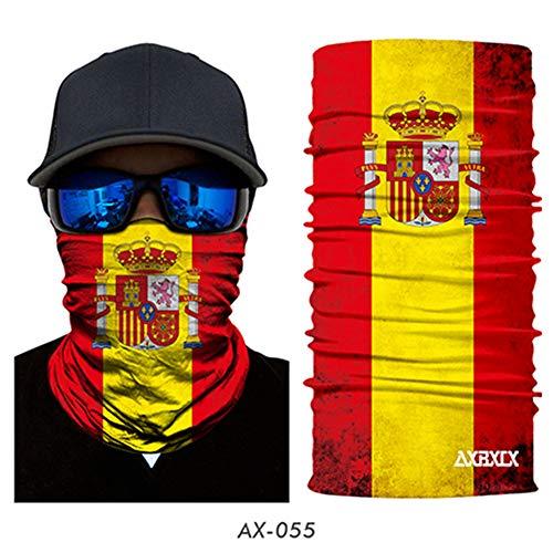 WEIZHUANGZHE National Flag Seamless Magic Balaclava Face Mask Motorcycle Skiing Riding Scarf Neck Shield Anti-UV Men Sun Warmer -