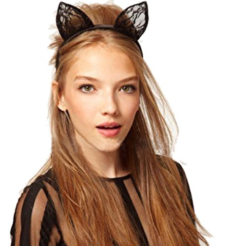 [Halloween,Baomabao Cat Ears Headband Animal Halloween Party Fancy Dress Costume Accessory] (Cats Musical Halloween Costumes)