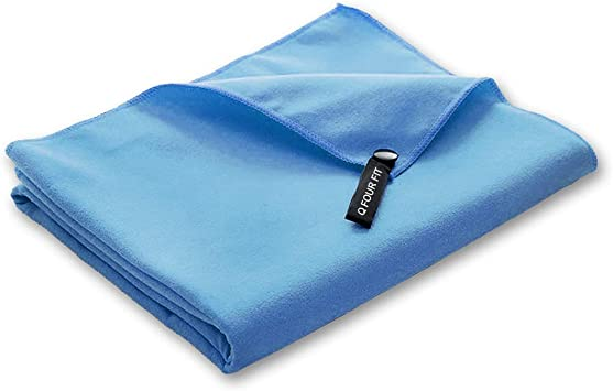 Q Four Fit Microfiber Outdoor Travel Sports Towel Fast Drying Super Absorbent Suitable for Camping Beach Swimming,Yoga Backpacking,Gym Pink