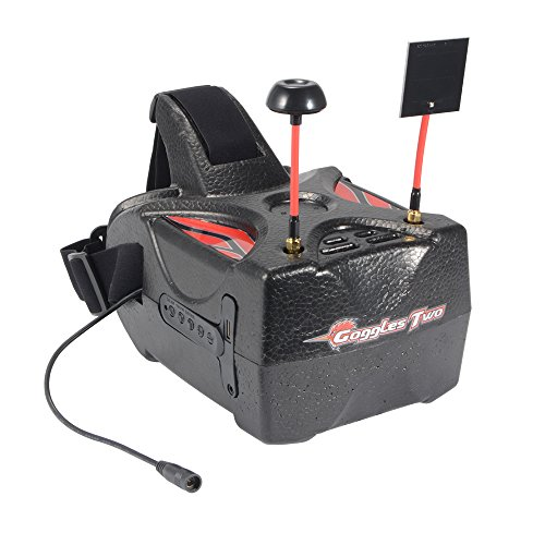 XCSOURCE Eachine Goggles Two 5'' Diversity 40CH Raceband HD1080p HDMI Wireless FPV Video Headset Glasses for Quadcopter Recording AH337 by XCSOURCE (Image #2)