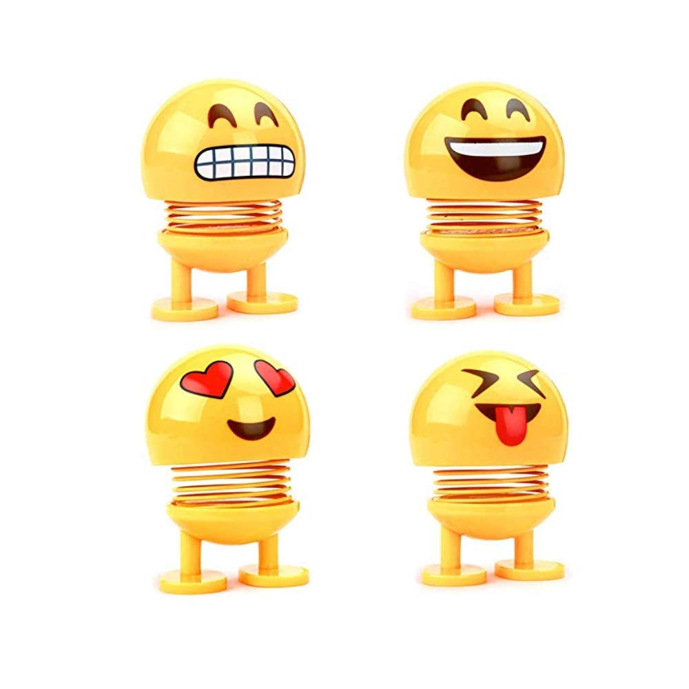 Kaptin 8 PCS Emoticon Spring Doll Smiling Face Spring Doll Shaking Head Dancing Doll Toy Bouncing Doll Desktop Doll Kids Party Favors Bounce Figure Dashboard Spring Figure Car Spring Doll by Kaptin (Image #7)
