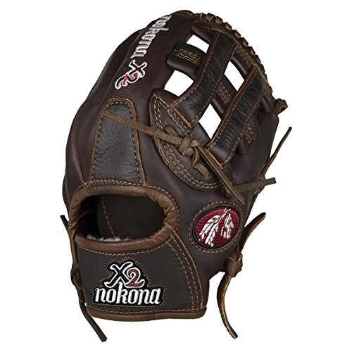 Nokona X2 Baseball Glove with 11.75-Inch Pattern, for Left Handed Throwers
