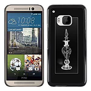 Planetar® ( Oil Lamp Poster Minimalist Black White ) HTC One M9 Fundas Cover Cubre Hard Case Cover
