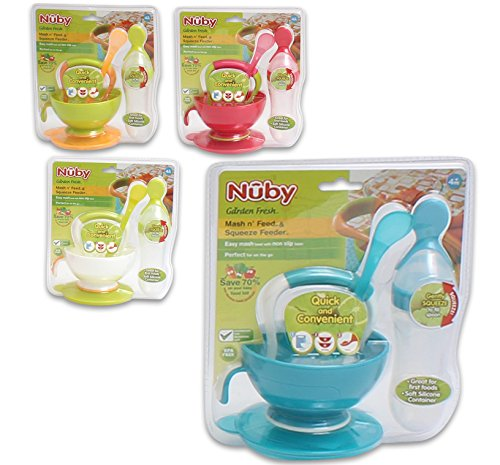 Nuby Garden Squeeze Feeder Colors