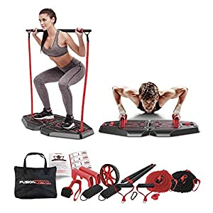 Fusion-Motion-Portable-Gym-with-8-Accessories-Including-Heavy-Resistance-Bands-Tricep-Bar-Ab-Roller-Wheel-Pulleys-and-More-Full-Body-Workout-Home-Exercise-Equipment-to-Build-Muscle-and-Burn-Fat