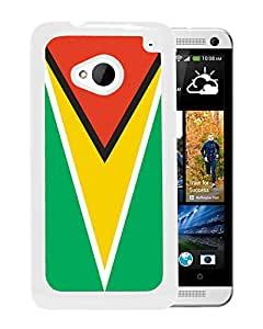 Guyana (2) Durable High Quality HTC ONE M7 Phone Case