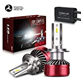 TURBOSII Extremely Bright H7 LED Headlight Bulbs Conversion Kits with Mini Fans, CSP