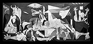 buyartforless IF MUS250 40x18 2 Black Framed Guernica 1937 by Pablo Picasso 40X18 Museum Art Print Poster