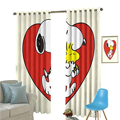 YSING Insulating Blackout Curtains,Graphics Bird Geometry Heart Shaped Chicken,Rod Pocket Drapes Thermal Insulated Panels Home décor,W84 x L96 Inch (Barclay Finishing Rods)