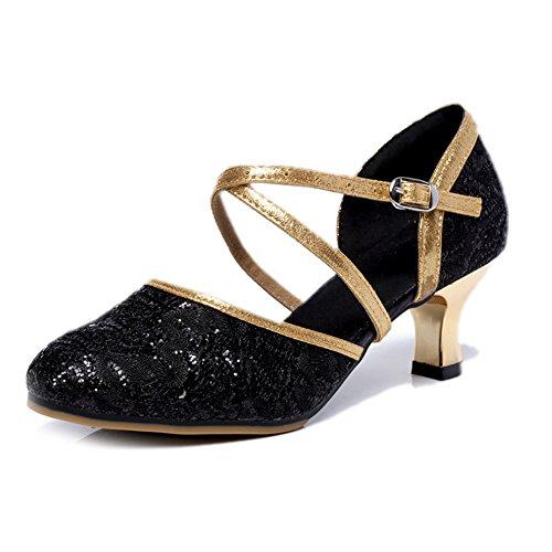 Wymname Womens Fond talons Chaussures Carré Net Moderne Surface Danse Latine De Moyens C Mou rr0wqZdpR