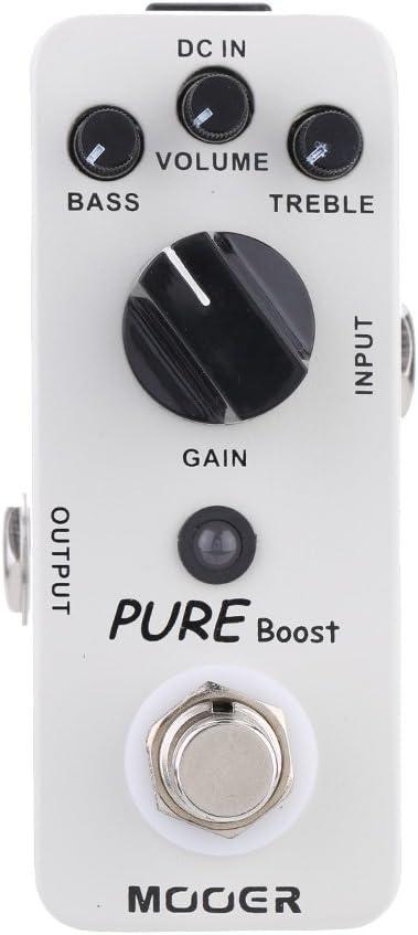 Muslady Mooer Impulso Puro Micro Boost Mini Pedal de Efecto para Guitarra Eléctrica True Bypass