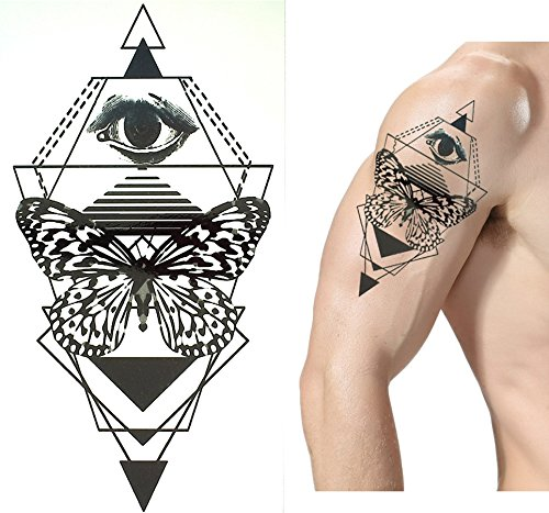 5 láminas Top Trend líneas Tatuajes Tattoo Grap hische Tattoo Juego X2 Reloj de arena Brújula búho Muelle: Amazon.es: Belleza