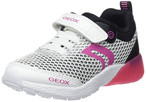 Fille Sneakers black Basses A white Sveth J Geox Blanc qSUwFXn