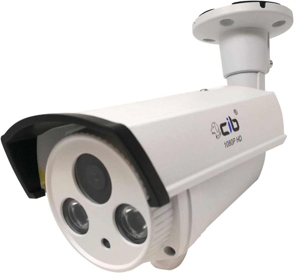 CIB Security Day/Night Vision True HD-TVI 1080P 2.1Megapixel HD Bullet Cameras/Long Range up to 150', White (CUT80P0856-150W)