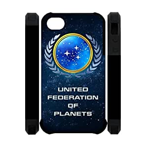United Federation of the Planets Star Trek IPhone 4 4S Dual-Protect Cover Case