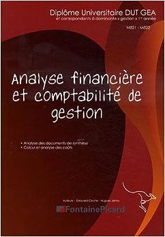 Analyse financière et comptabilité de gestion DUT GEA 1re année