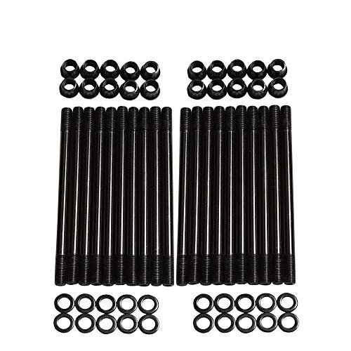 High Strength Cylinder Head Stud Kit for 2003-2007 Ford F250 F350 6.0L Diesel Powerstroke 250-4202 Engine Type V8 (Best Head Studs For 6.0 Powerstroke)