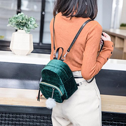 Verde Mujer 20cm hombro Gris 10cm de de 24cm Bolso Bolsa viaje LMMVP de pequeño Bolsa Corduroy Mochilas TfOawqdO