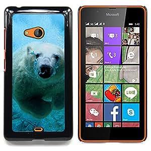 SKCASE Center / Funda Carcasa protectora - Natación linda del oso polar;;;;;;;; - Nokia Lumia 540