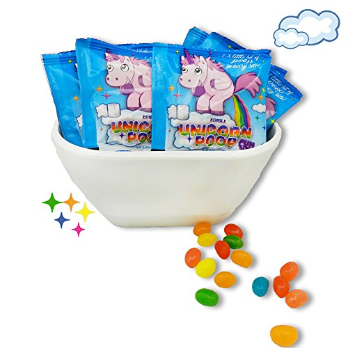 (Unicorn Poop Candy (Jelly Beans) - White Elephant Stocking Stuffer - Funny Birthday Party Favor - Gag Party Candy - 24 Fun Size)