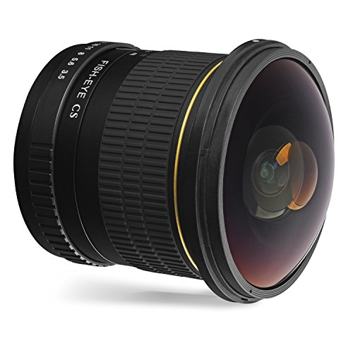 Oshiro 8mm f/3.5 LD UNC AL Wide Angle Fisheye Lens for Nikon D5, D4s, D4, D3x, Df, D850, D810, D750, D610, D500, D7500, D7200, D7100, D5600, D5500, D5300, D5200, D3400, D3300 Digital DSLR Cameras
