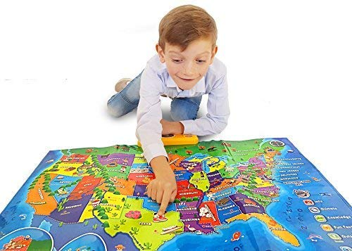 Interactive Talking USA Map for Kids TG660 - Push, Learn and Discover Over 500 Facts About The USA – Ideal Interactive Learning Toy Gift for Boys & Girls Aged 5,6,7,8,9,10 - by ThinkGizmos by Think Gizmos (Image #6)