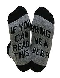 If You Can Read This Socks, Fascigirl Funny Tube Socks Breathable Cotton Socks Winter Warm Socks