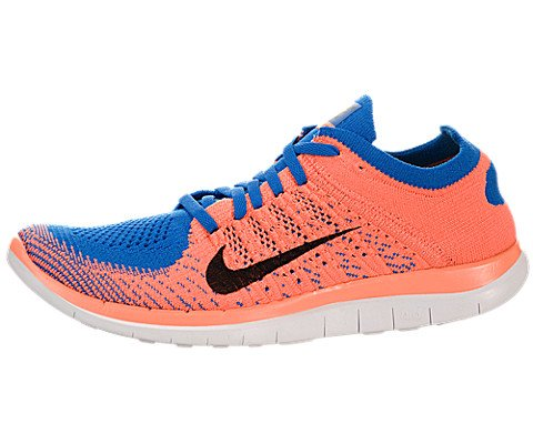 Nike Free 4.0 Flyknit Women's Running Shoes, 9, Photo Blue/Black/Brght Mng/Wht