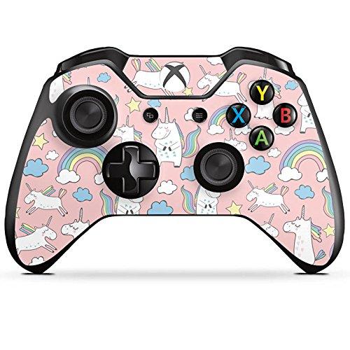 DeinDesign Skin Aufkleber Sticker Folie für Microsoft Xbox One Controller Einhorn Unicorn Muster