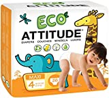 Natural Baby Diapers Size 4: Biodegradable, Hypoallergenic Diapers   Leak-Free, Moisture-Control, Fast Absorption   100% Chlorine-Free Diapers, Free of Fragrances, Dyes, Print (26 count)