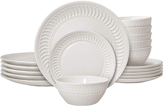 6-Inch Pfaltzgraff Cassandra Soup//Cereal Bowl White