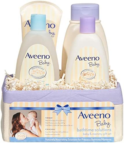 picture of Aveeno Baby Daily Bathtime Solutions Gift Set to Nourish Skin