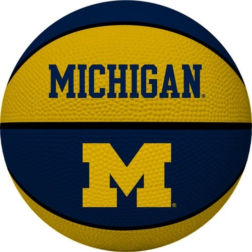Michigan Wolverines Ncaa Basketball - NCAA Michigan Wolverines Crossover Full Size Basketball by Rawlings