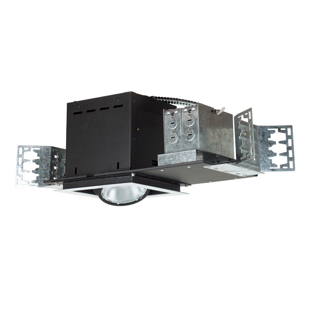 Jesco Lighting MYP30-1WB Modulinear Directional Lighting, Adjustable Yoke PAR30 1-Light Linear, Black Interior With White Trim by Jesco Lighting Group