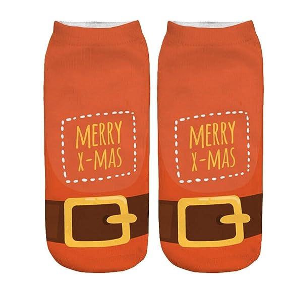 BHYDRY Mujer 3D de dibujos animados divertido de Navidad loco lindo increíble novedad imprimir tobillo calcetines: Amazon.es: Ropa y accesorios