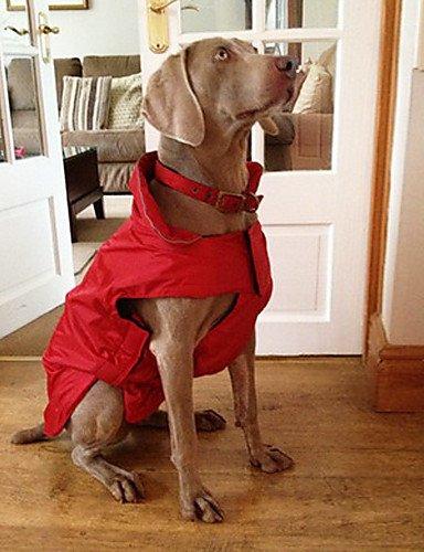 MQZM perro gato Puppy Pet Dress Up - Alimentos para mascotas abrigos para perros rojo / negro / azul invierno XS / S / M / L / XL / XXL XXXL / nylon / Fleece