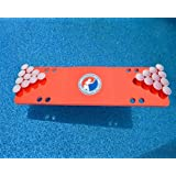Red Travel Sized Foam Beer Pong Table, 6ft, Foam, All Weather, Portable