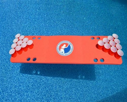 Red Travel Sized Foam Beer Pong Table by Tailgate Pro's